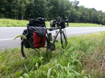 The Bianchi Volpe on US 29 between Culpeper and Charlottesville, Virginia