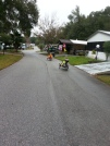 Susan and George head out on their Cat-trikes.