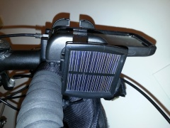Smartphone bracket and solar panel