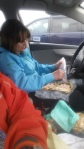 lunch in the parking lot