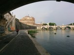 Castel Sant'Angelo from the bike path