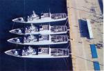 """Patrol boats in a """"Med moor"""""""