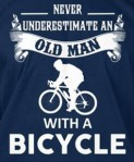 old man on a bike - tee