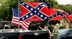 CSA battle flag on truck